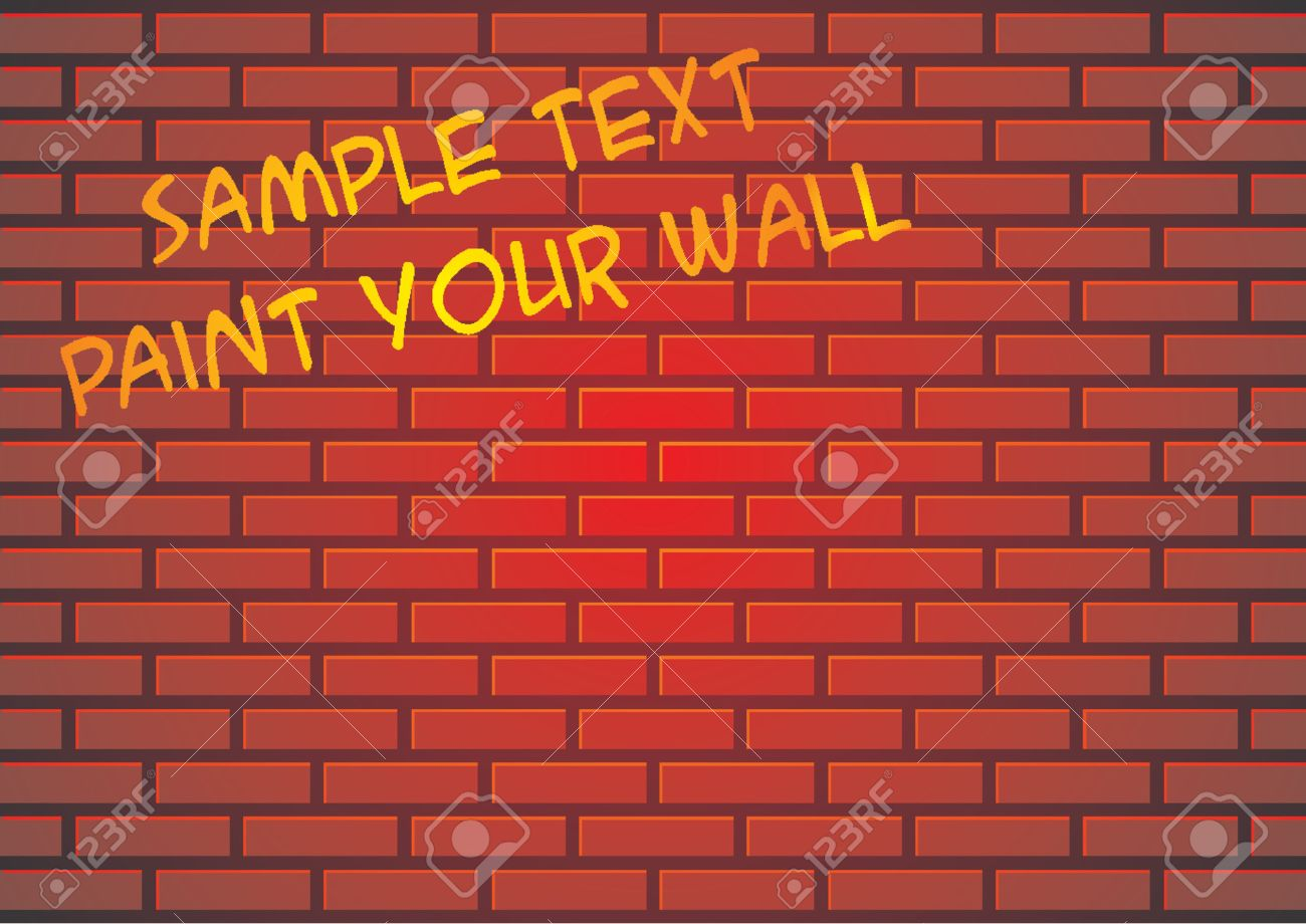 Grafiti wall red - Red Brick Wall Suitable For Backgrounds Or Paint Some Graffiti Stock Vector 765942