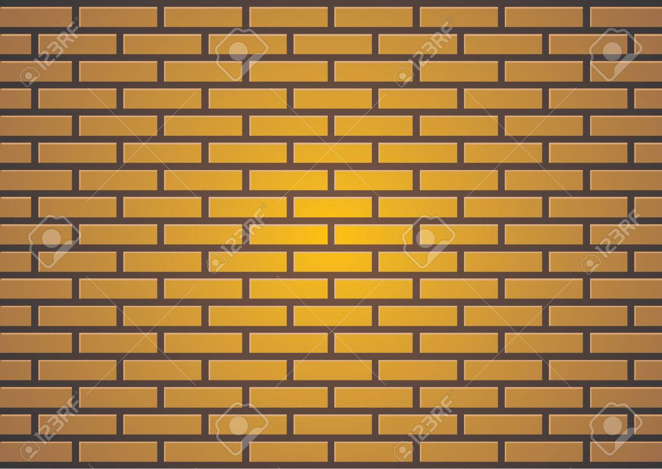 Brown Brick Wall Suitable For Backgrounds Or Paint Some Graffiti Stock Vector