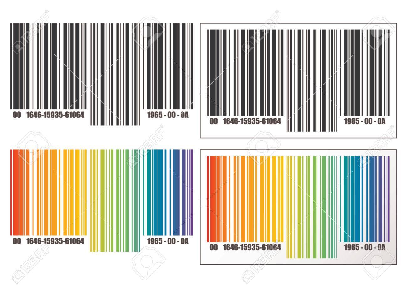 Barcode-Vorlage über Weißem Hintergrund. Text Und Farben Können ...