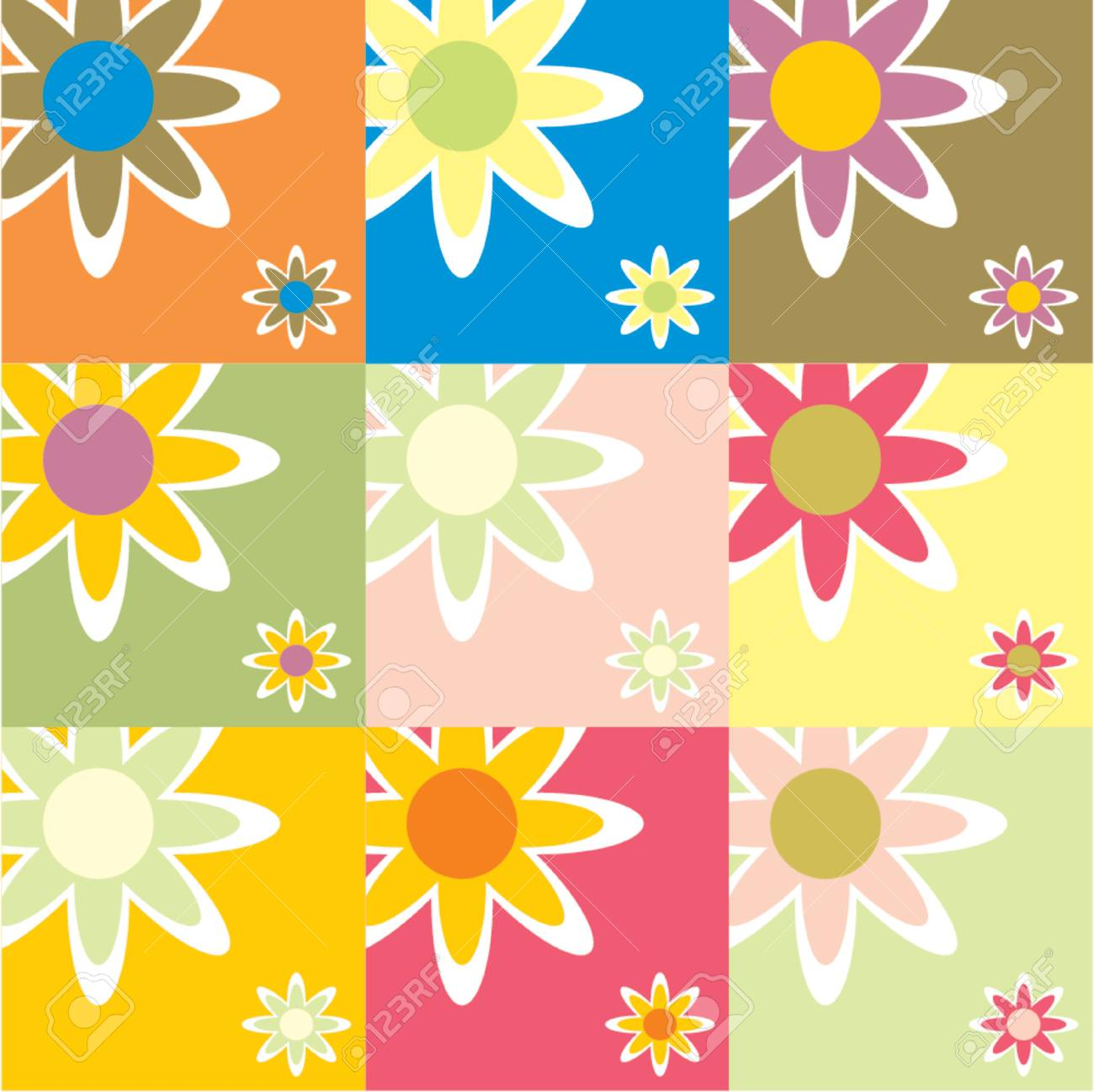 Floral pattern with lots of different colors Stock Vector - 922365