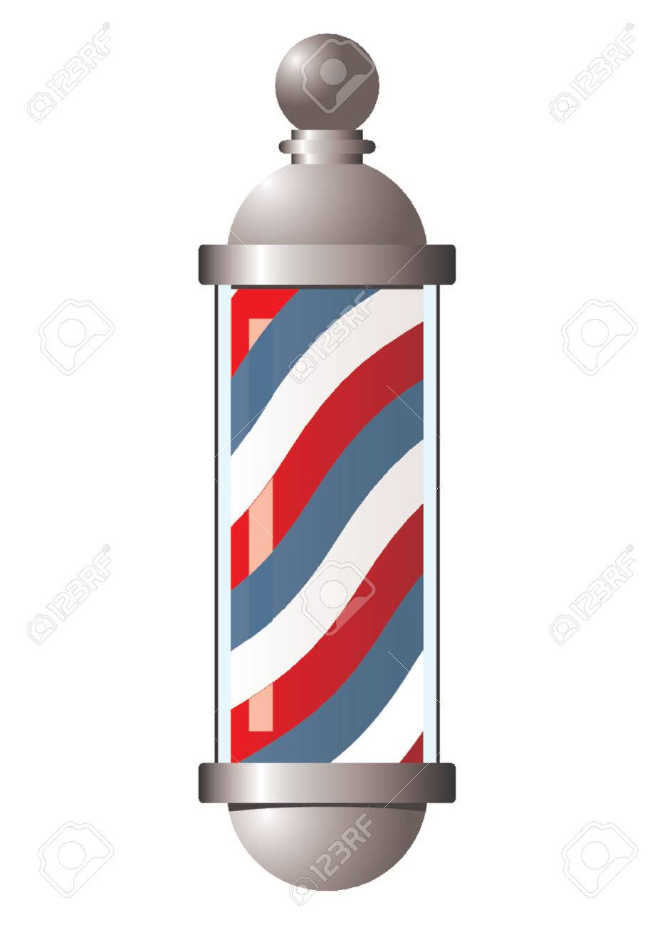 vintage barber pole over white background royalty free cliparts rh 123rf com