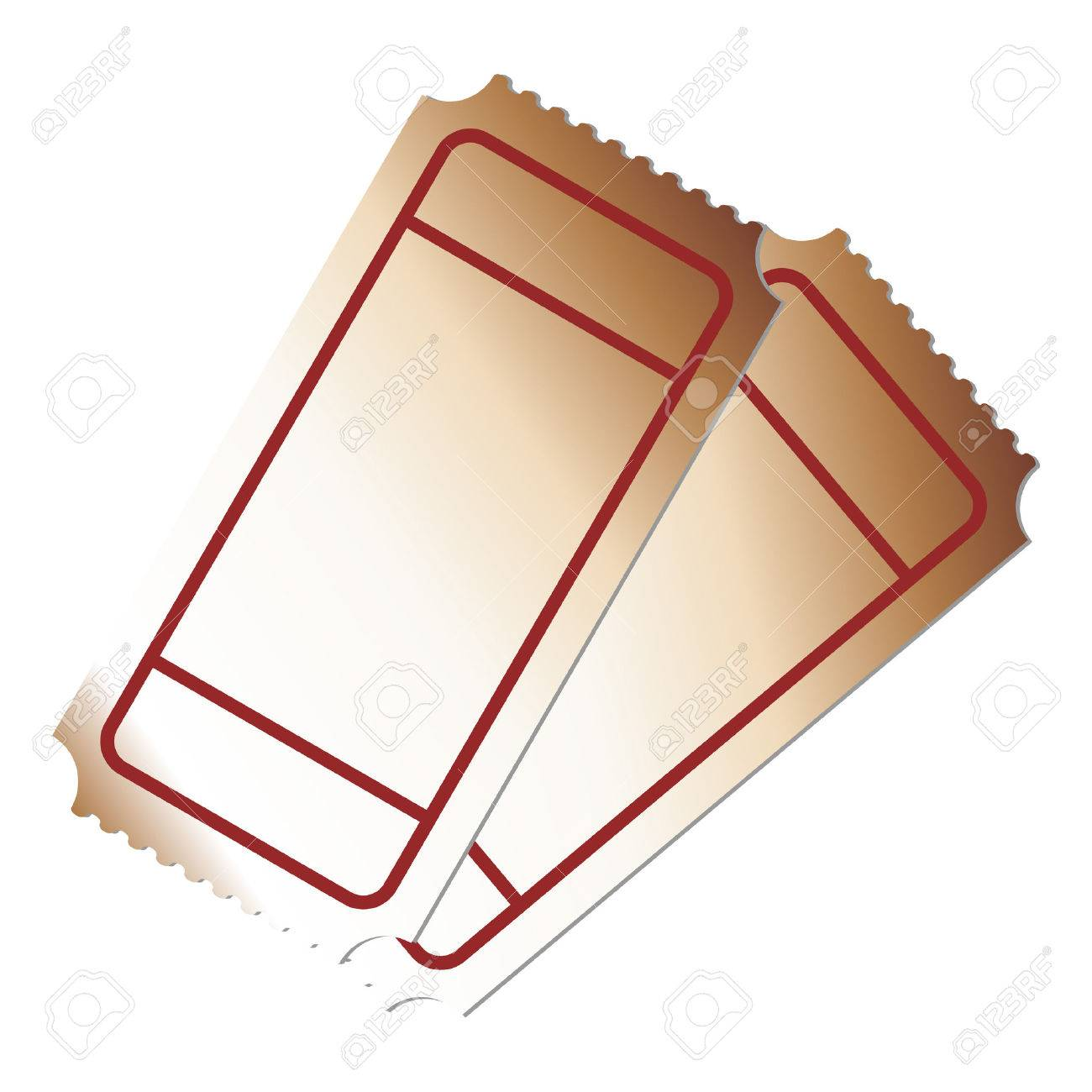 Blank Tickets On Top Of Each Other Royalty Free Cliparts Vectors – Blank Ticket