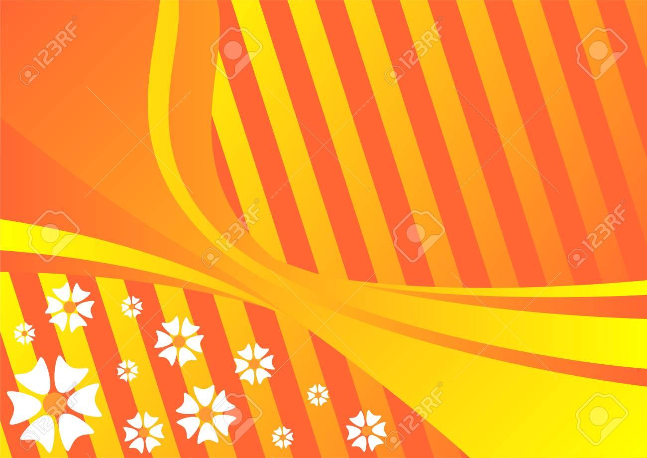 Flower pattern in tones of orange evoking spring time Stock Photo - 2507637