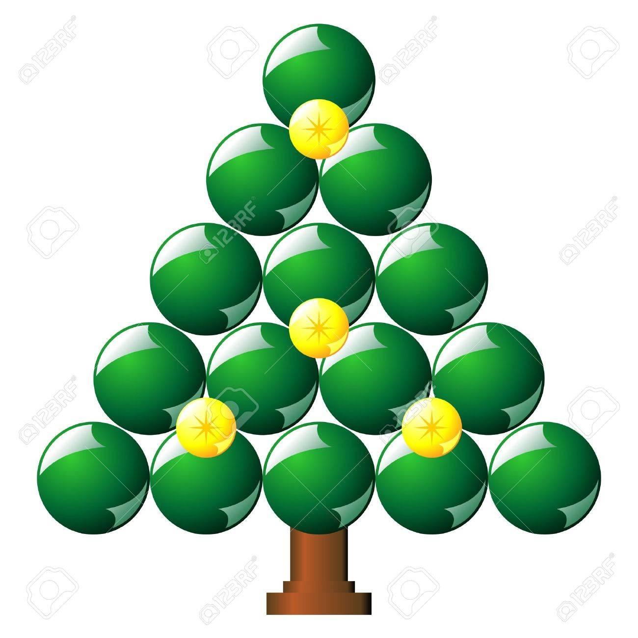 foto de archivo rbol de navidad con bolas ms verde blanco