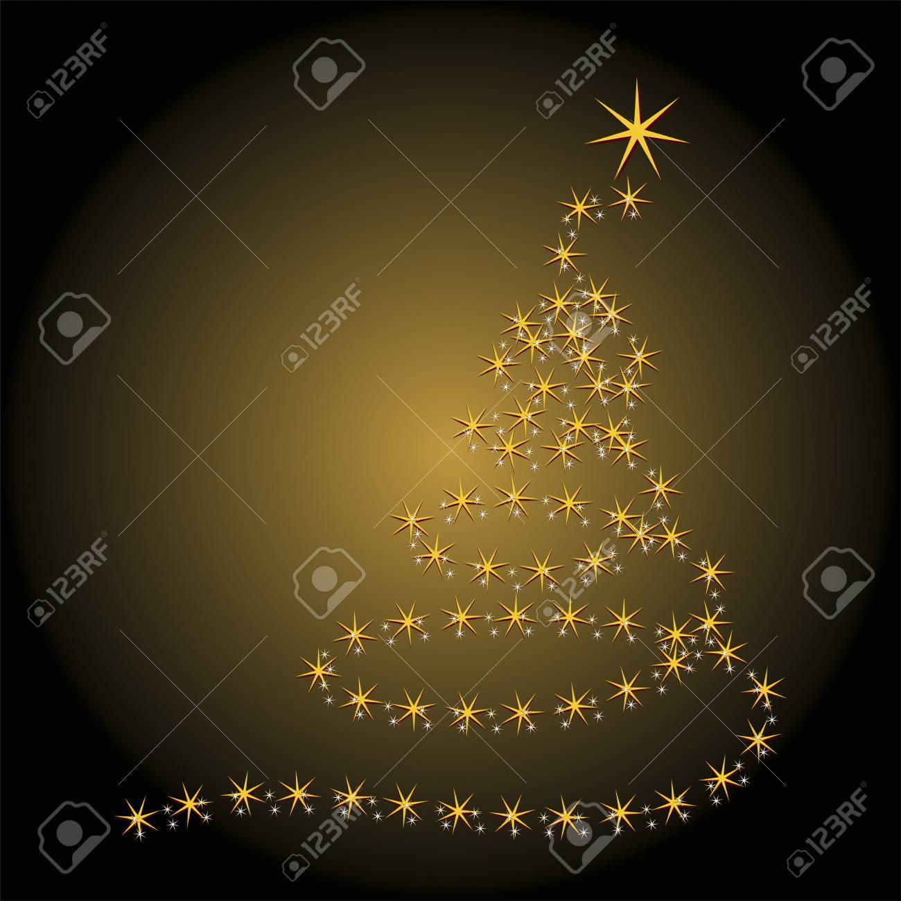 Albero Di Natale Nero E Oro.Albero Di Natale Piu Isolato Nero E Oro Gradiente