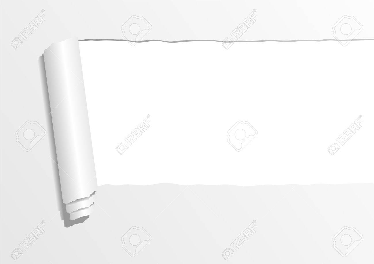 Ripped paper sheet with negative space to insert text Stock Photo - 4106565