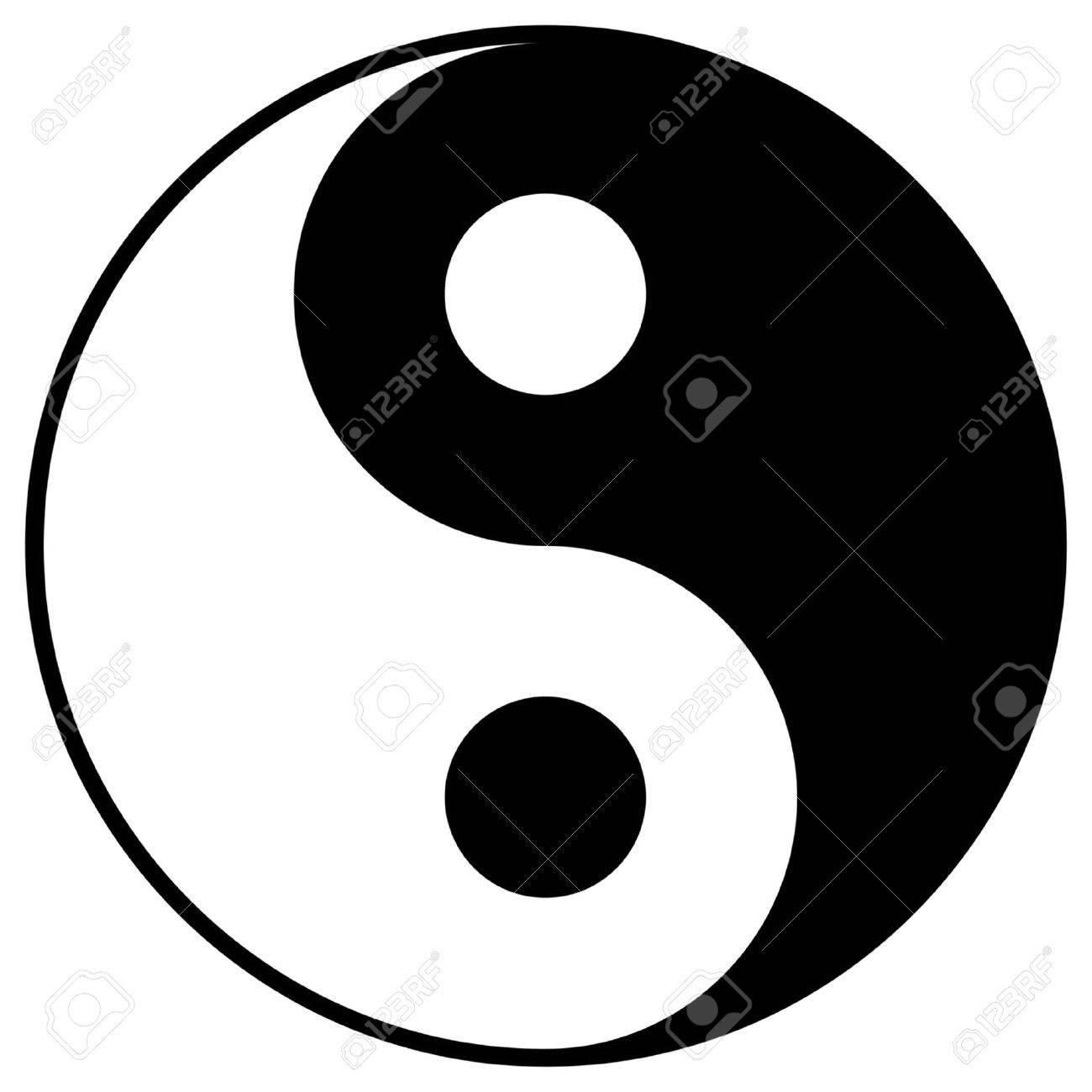 Yin and Yang symbol isolated over white background - 4675890