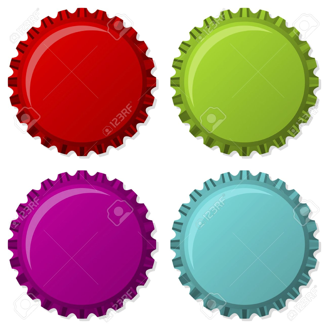colorized bottle caps isolated over white background royalty free rh 123rf com bottle cap clip art black and white beer bottle cap clipart