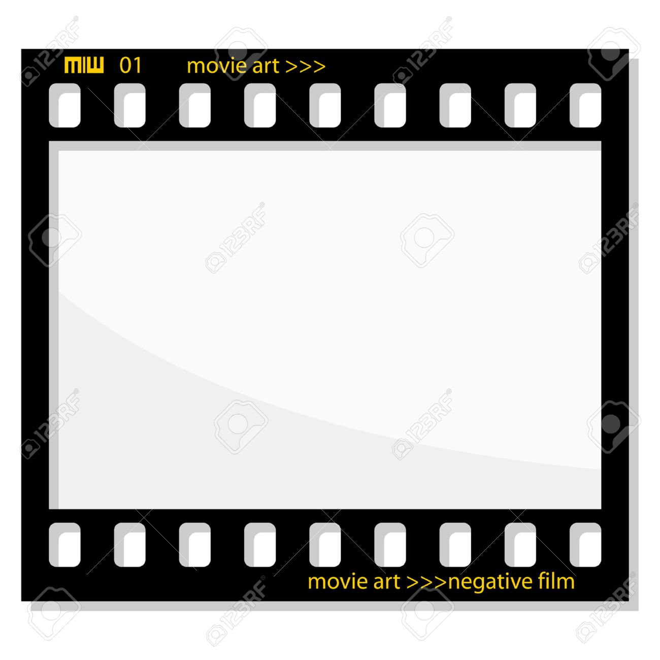 Old Negative Photo Film Frame Isolated Over White Royalty Free ...