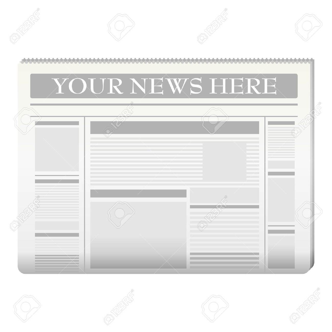 Newspaper Template To Your Own News Over White Ilustraciones ...