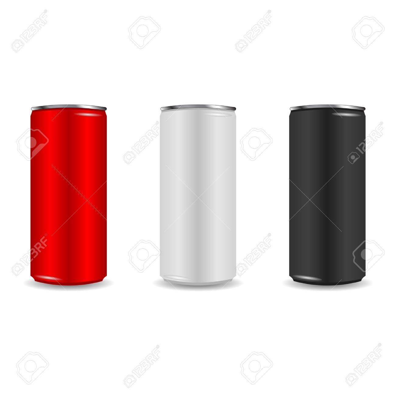 Colorful aliminum drink cans over white background Stock Vector - 6799454