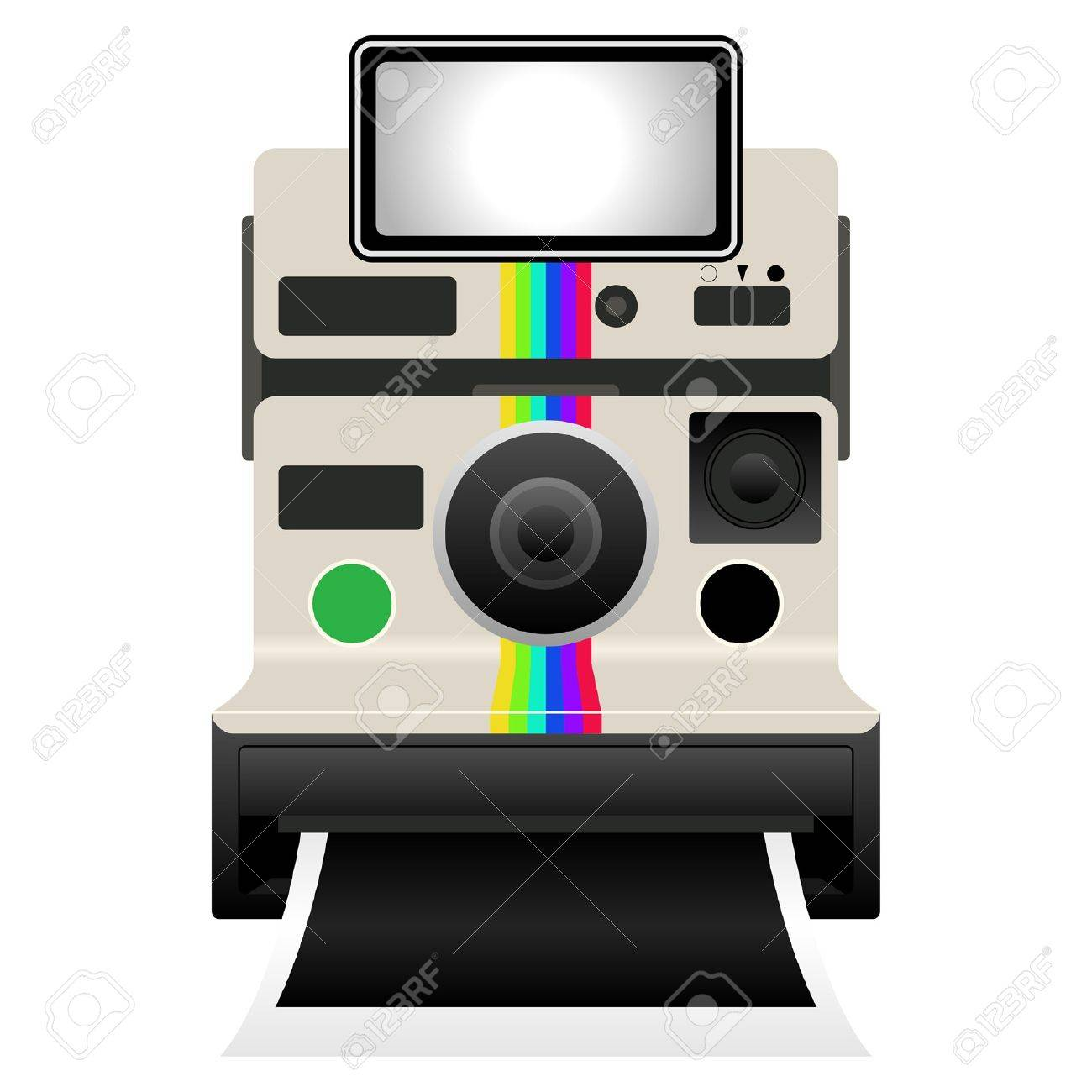 Vintage camera isolated over white background Stock Vector - 9461503