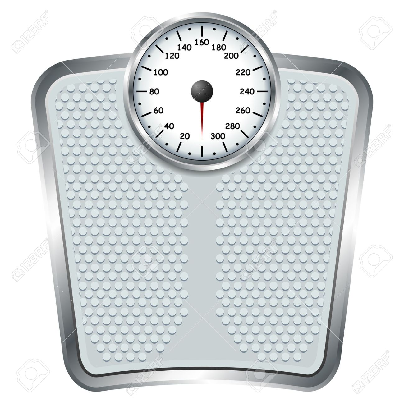 Bathroom Scale Bathroom Scale Isolate Over White Square Background