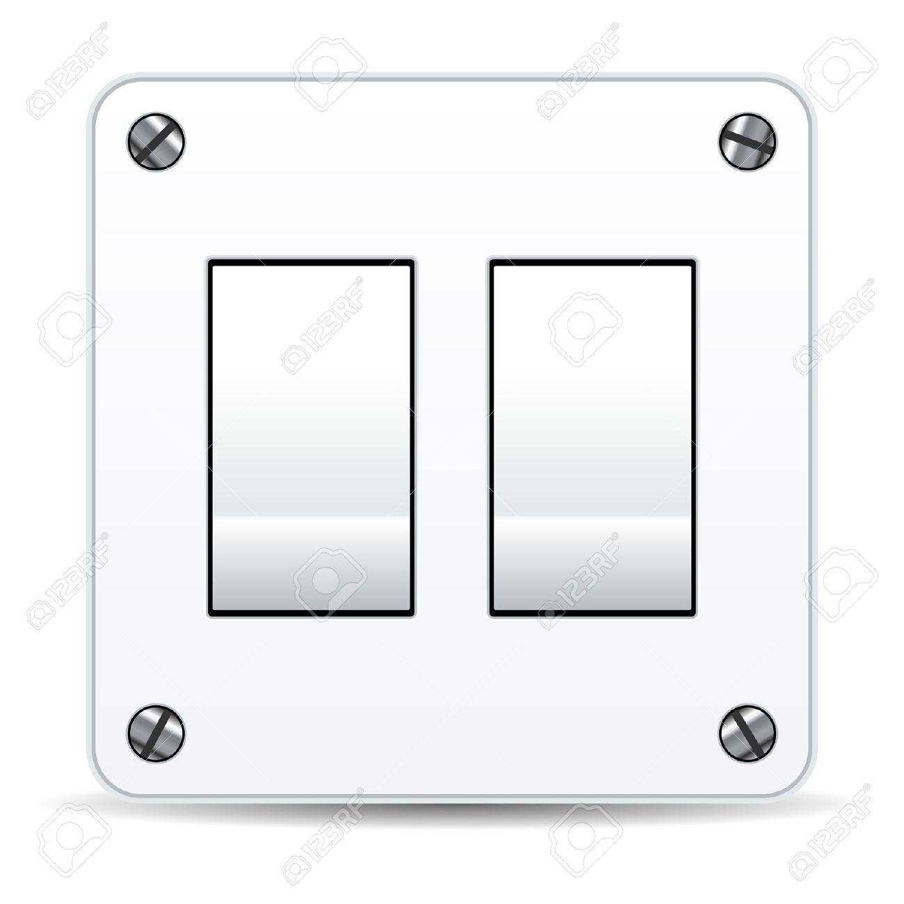 Dual Light Switch Isolated Over White Background Royalty Free ...