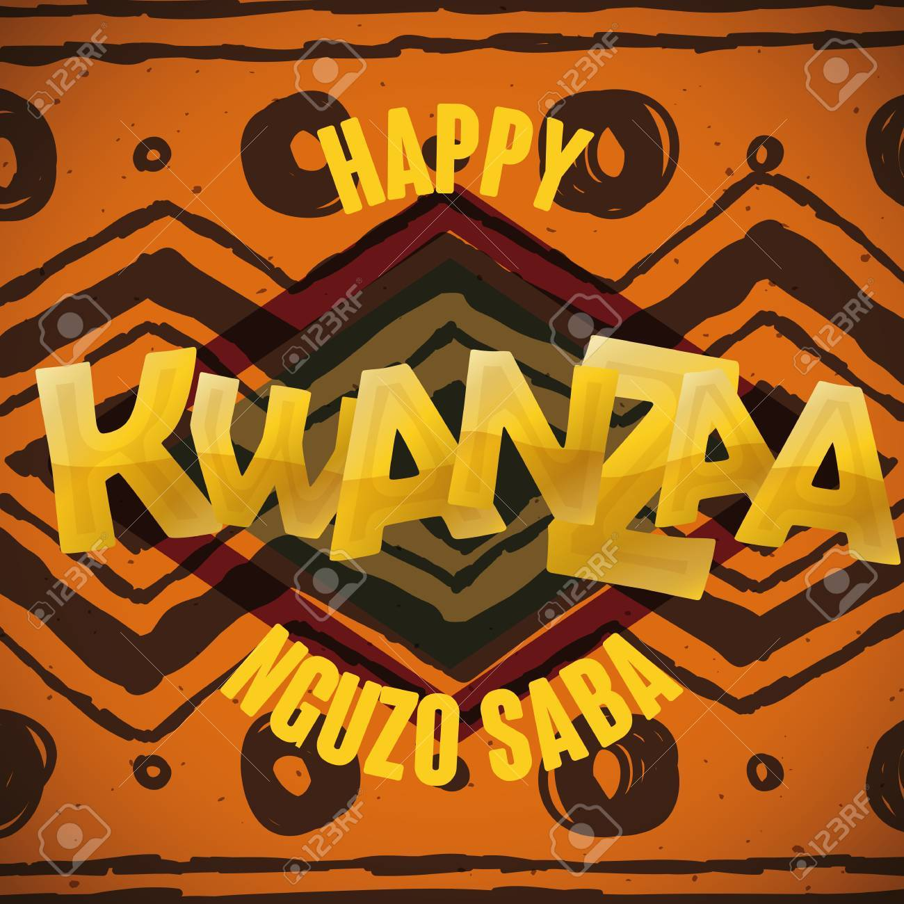 Kwanzaa greeting message with golden background royalty free kwanzaa greeting message with golden background stock vector 50018663 m4hsunfo