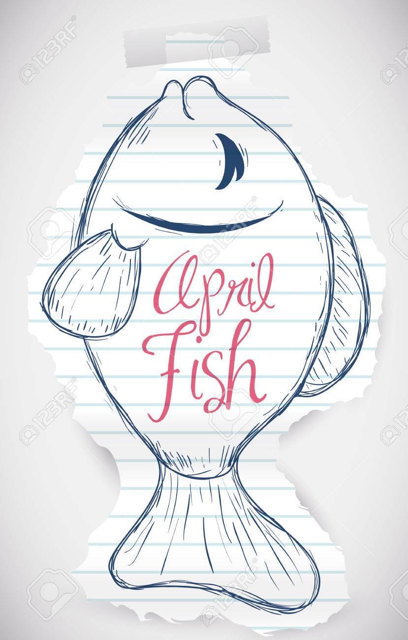 Tear Rip Paper With A Sweet Fish Draw For April Fools Prank