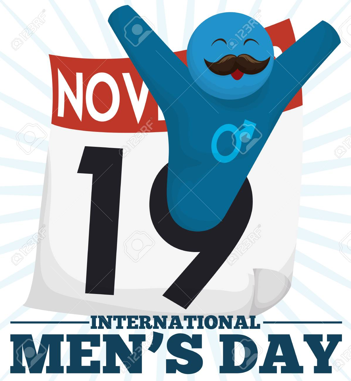 festive design for international men s day with a happy male