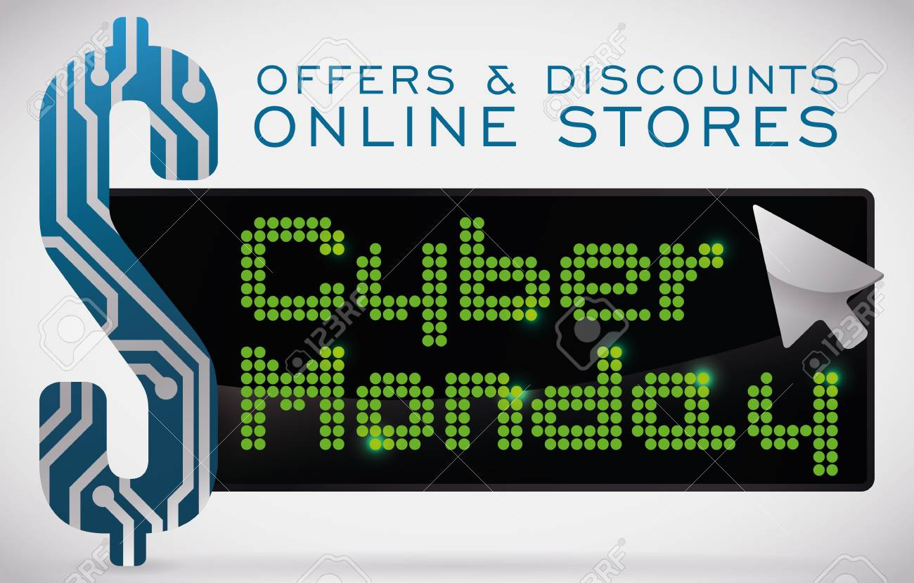 Banner With Technology Design Announcing Cyber Monday Sale With ...
