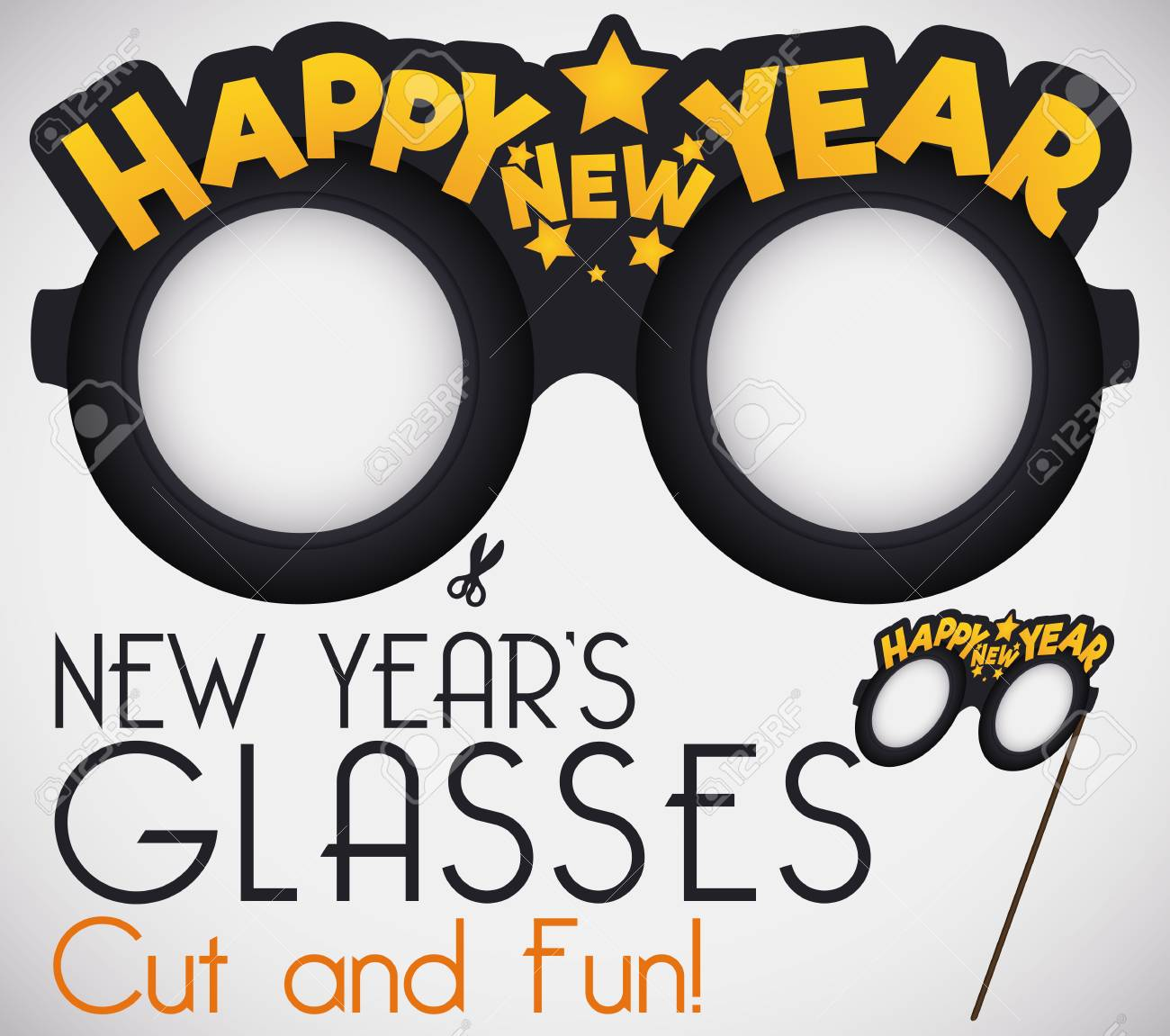 Do it yourself cut it for a funny new years glasses with greeting do it yourself cut it for a funny new years glasses with greeting message and solutioingenieria Images