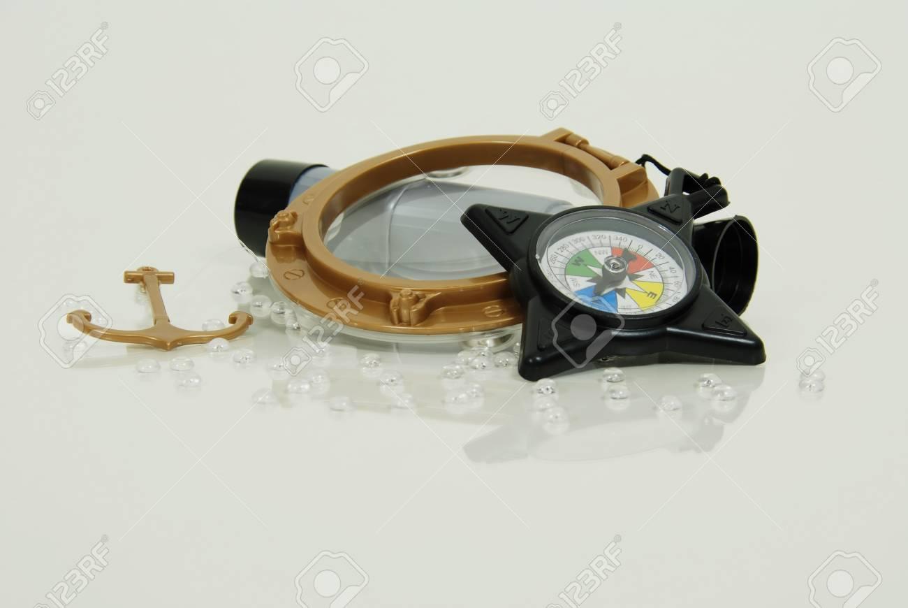 Kompass für nautische zwecke verwendet teleskop fernrohr benutzt