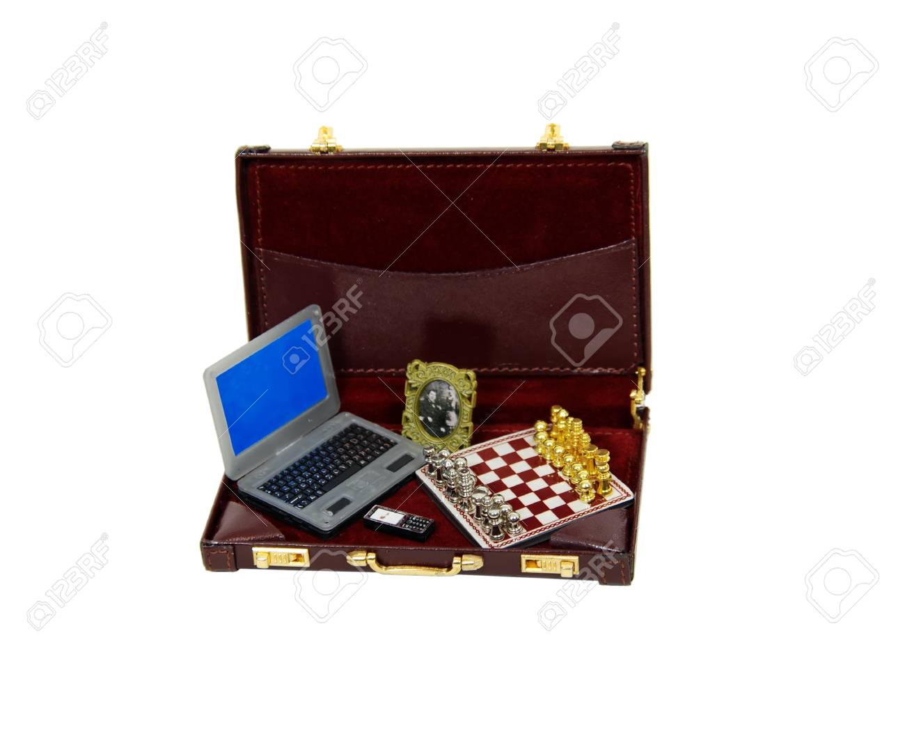 best website 7bbf5 f8fbb Leather briefcase used to carry items to the office including..
