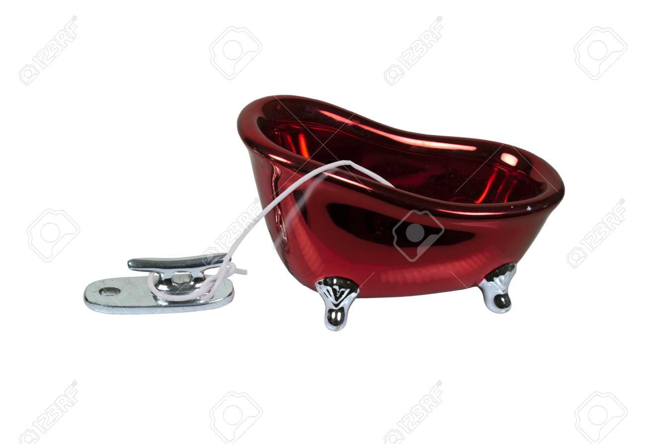 Vasca Da Bagno Rossa : Vasca da bagno rosso retrò garantito una bitta dock foto royalty