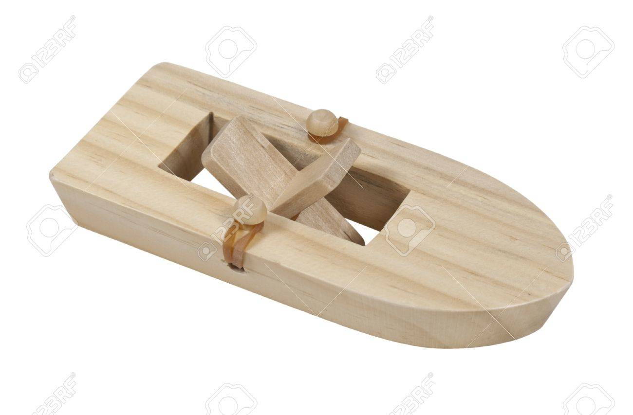 Rubberband Powered Wooden Paddle Boat