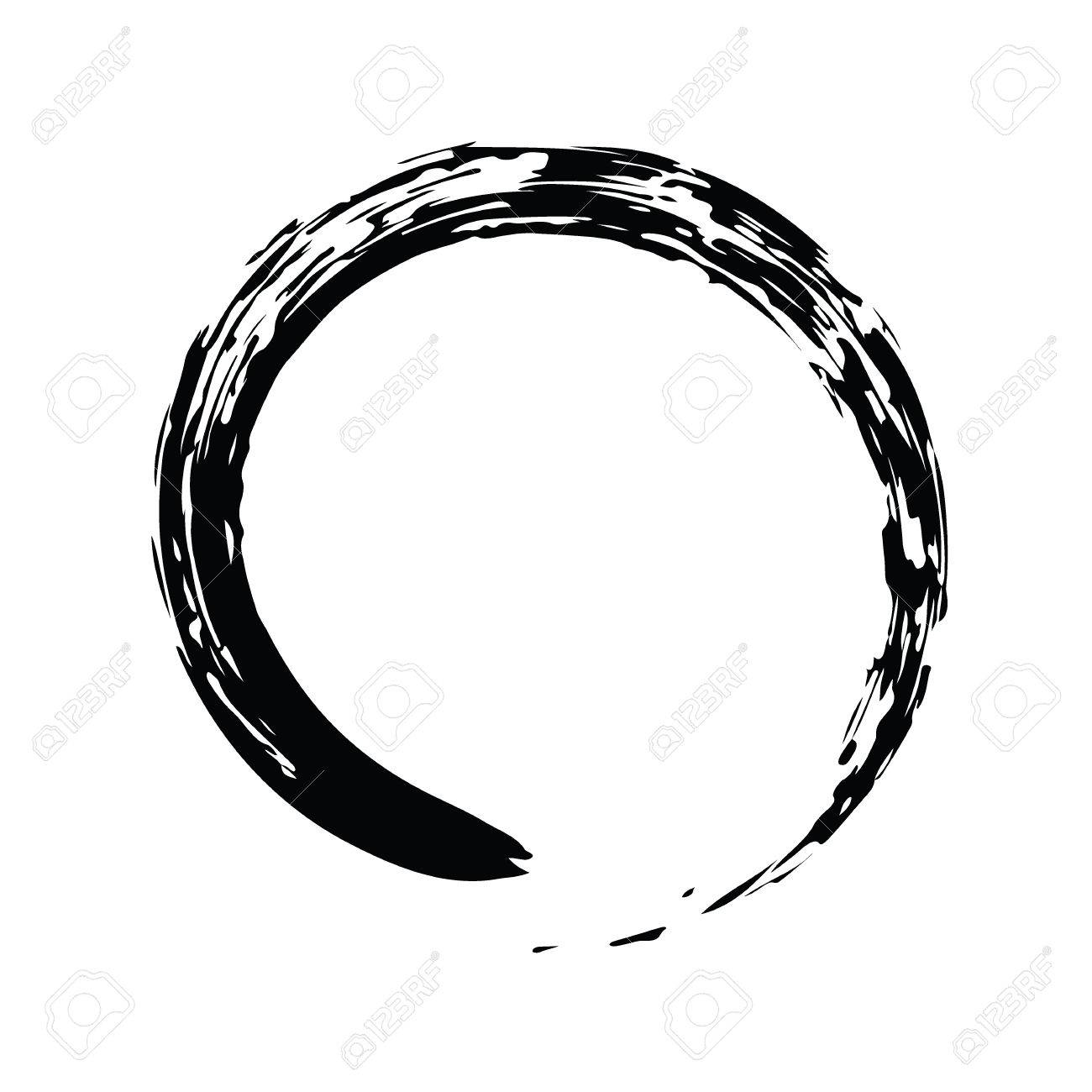 Black chinese brush draw the symbol of zen chinese and japanese black chinese brush draw the symbol of zen chinese and japanese buddhism religion concept biocorpaavc Images