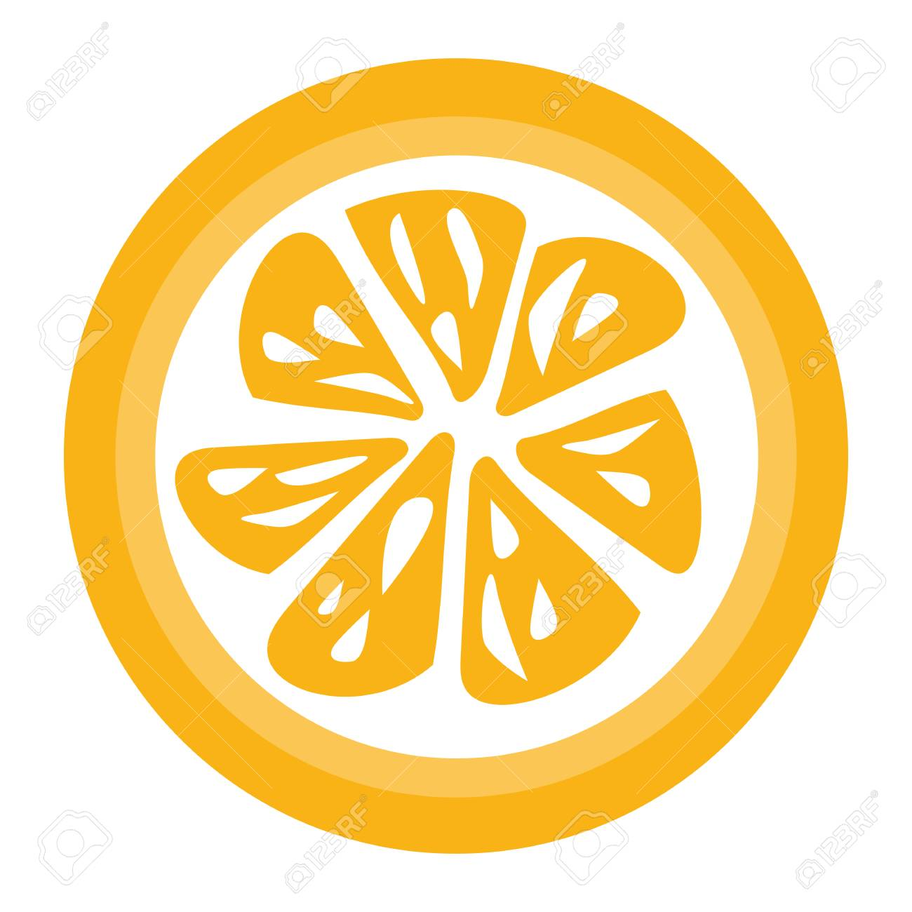 orange slice vector for download isolated on white background