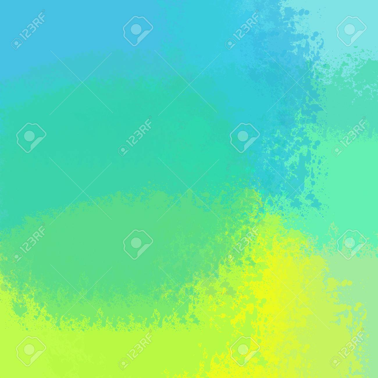 Abstract Painted Water Color Blue ,yellow,cyan,turquoise Background ...