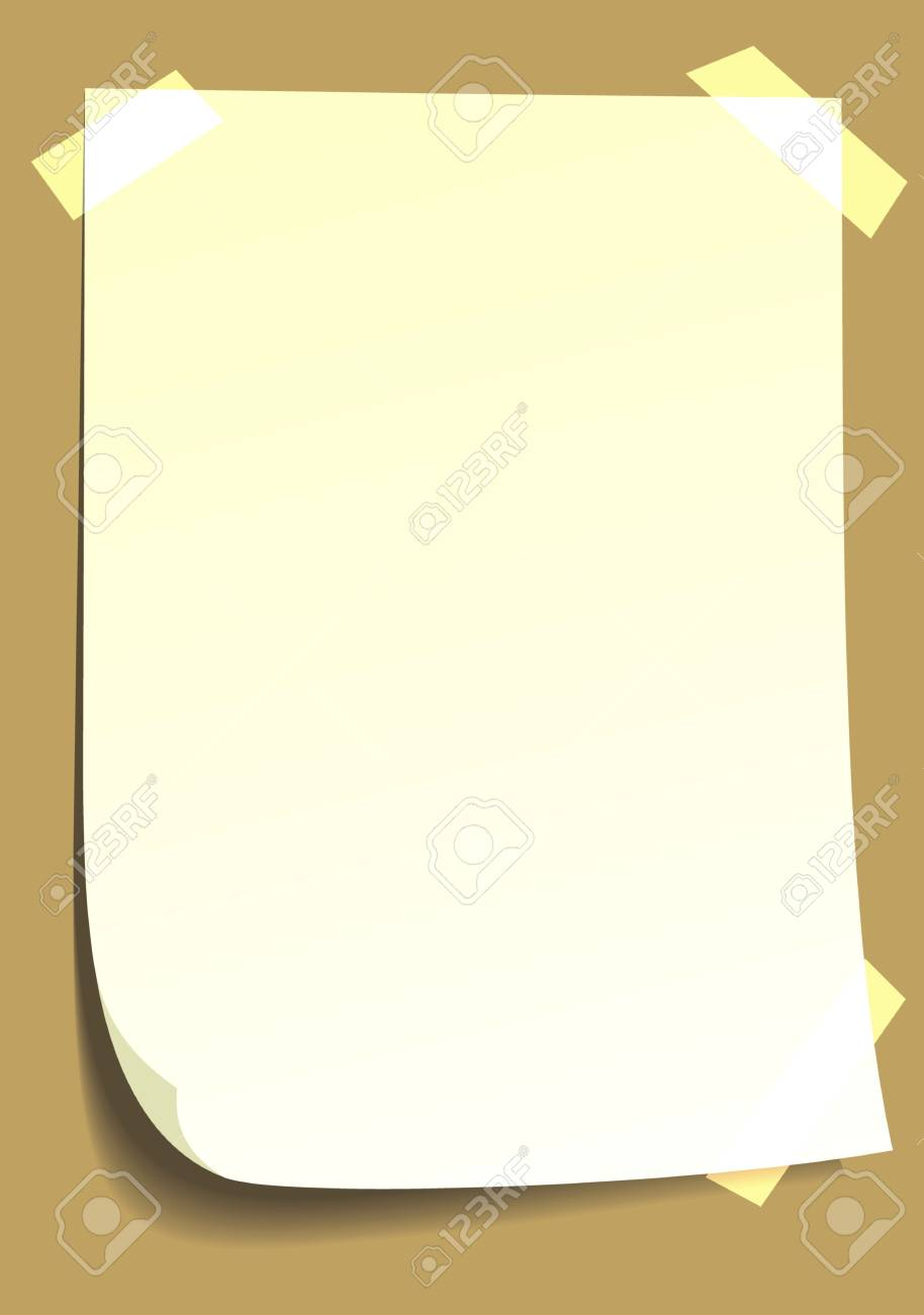 blank white paper on the brown background Stock Vector - 18295043