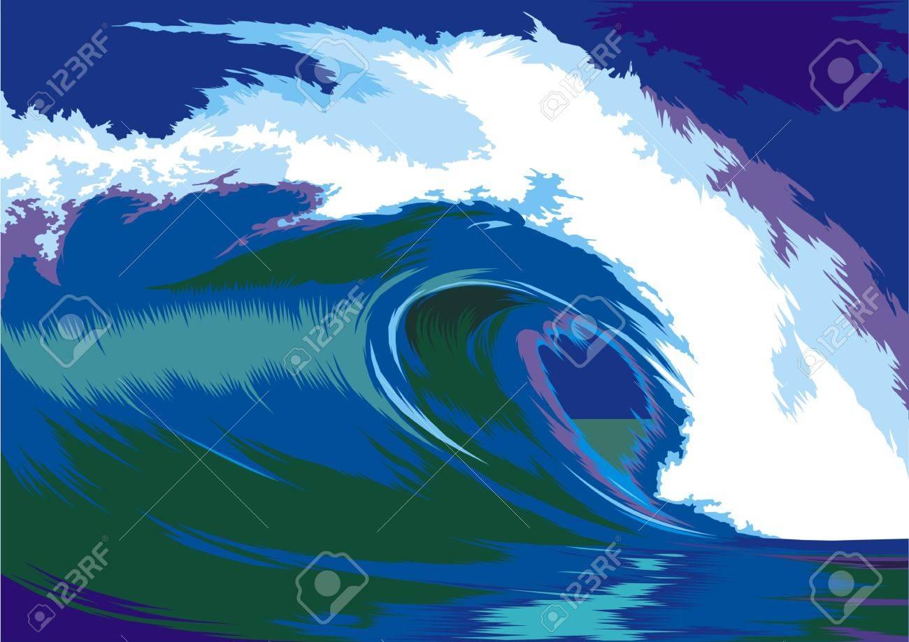 blue ocean waves crashing on the beach