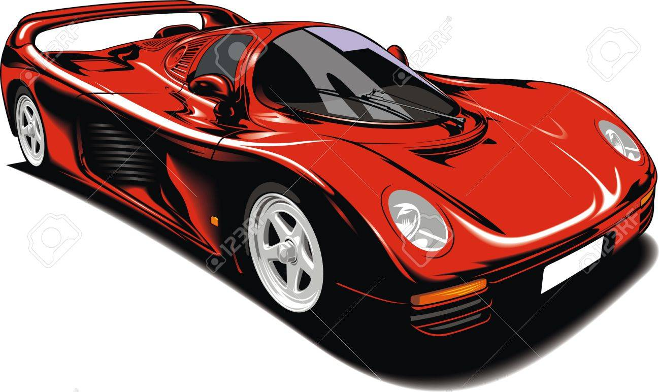 original sport car isolated on white background Stock Vector - 18580733