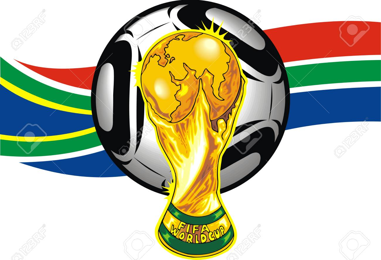 south africa soccer theme isolated on white background Stock Vector - 19565859
