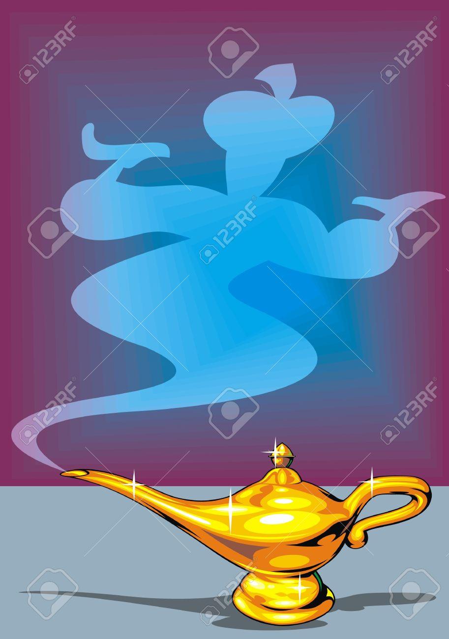 illustrated golden Aladdin Stock Vector - 20943574