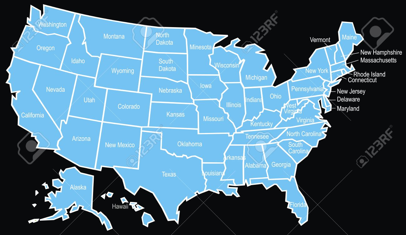 Usa Map Black.Nice Usa Map On The Black Background Royalty Free Cliparts Vectors