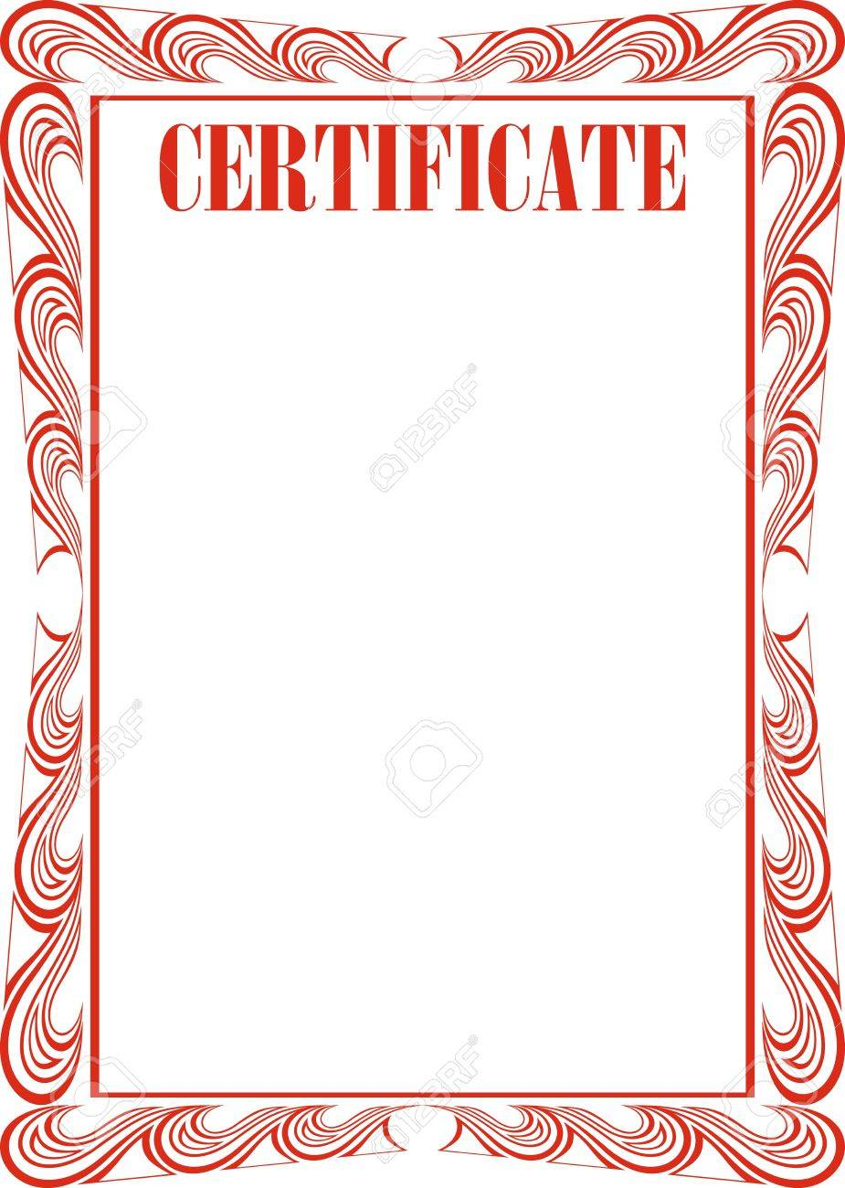 Certificate Frame Isolated On The White Background Royalty Free ...