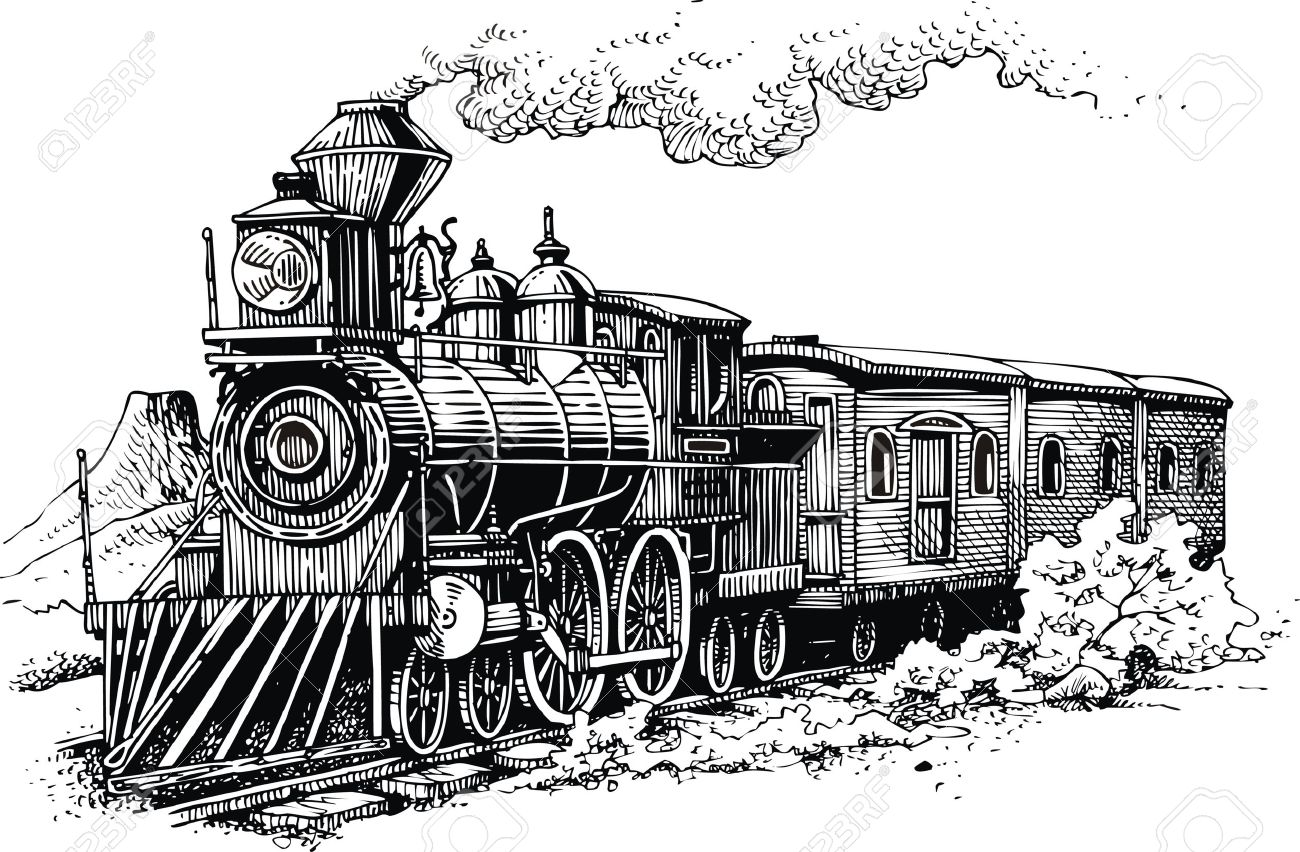 Illustrations Old Western Trains Wiring Diagrams 110v 50 Amp Male Plug 2539 Long Pigtail Arcon Rv Ar14250 Steam Machine From The Wild West Royalty Free Cliparts Vectors Rh 123rf Com Train Cartoon 3d