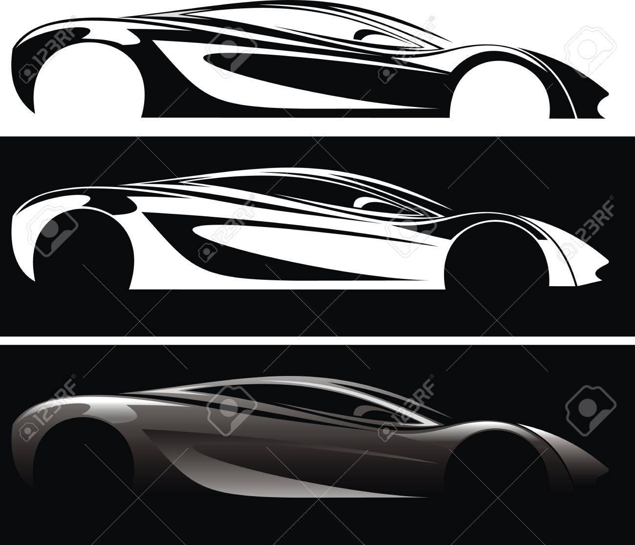 Meinem Ursprünglichen Entwurf Auto Isoliert Auf Den Weißen ...