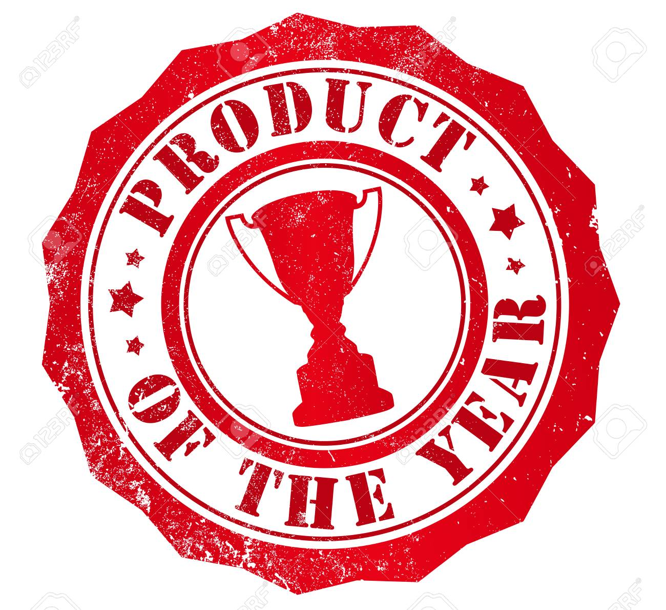 Product Of The Year Grunge Stamp In English Language Stock Photo