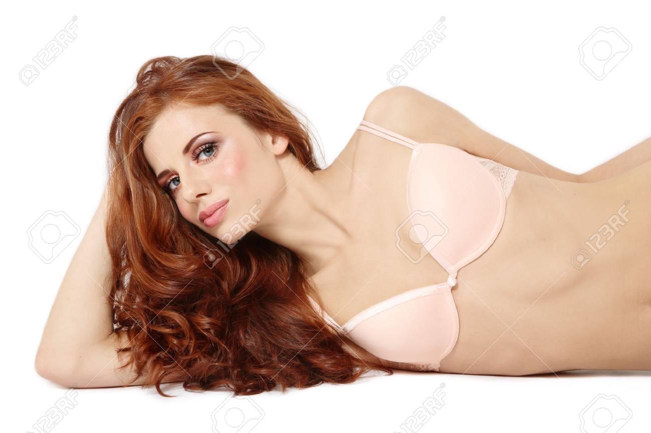 Red head lingerie girls