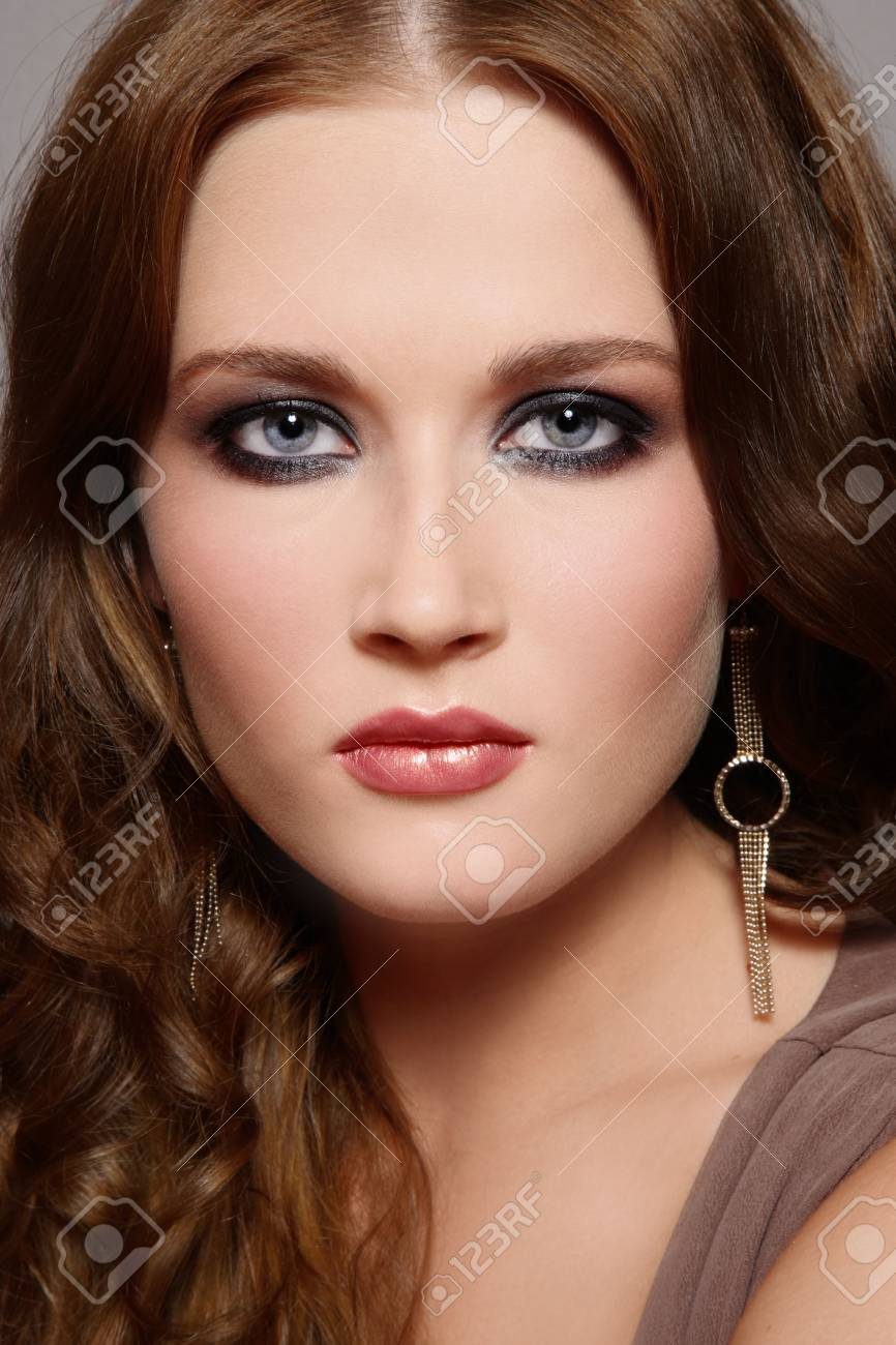 Portrait of beautiful young girl with smoky eyes Stock Photo - 4794292