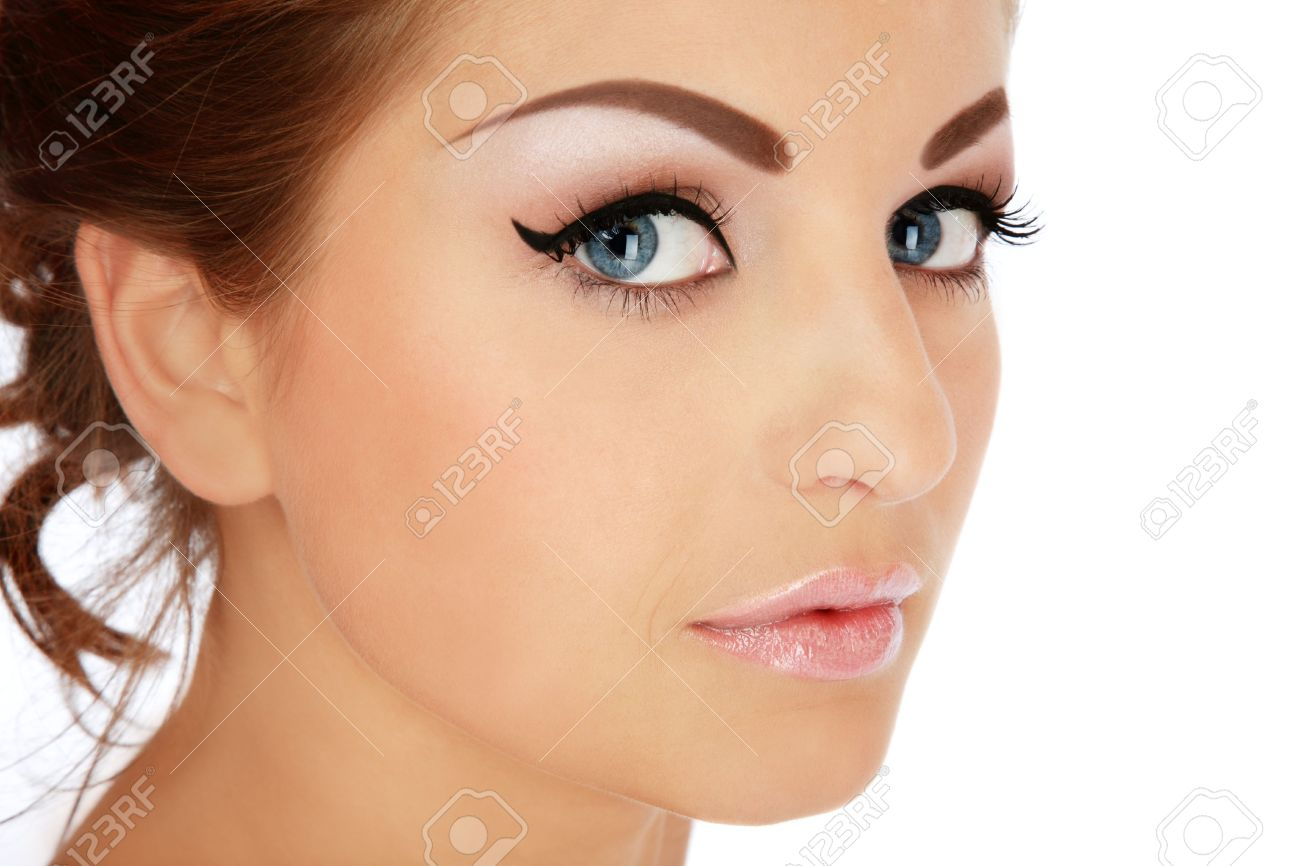 Close-up portrait of young beautiful woman with stylish makeup Stock Photo - 5676170