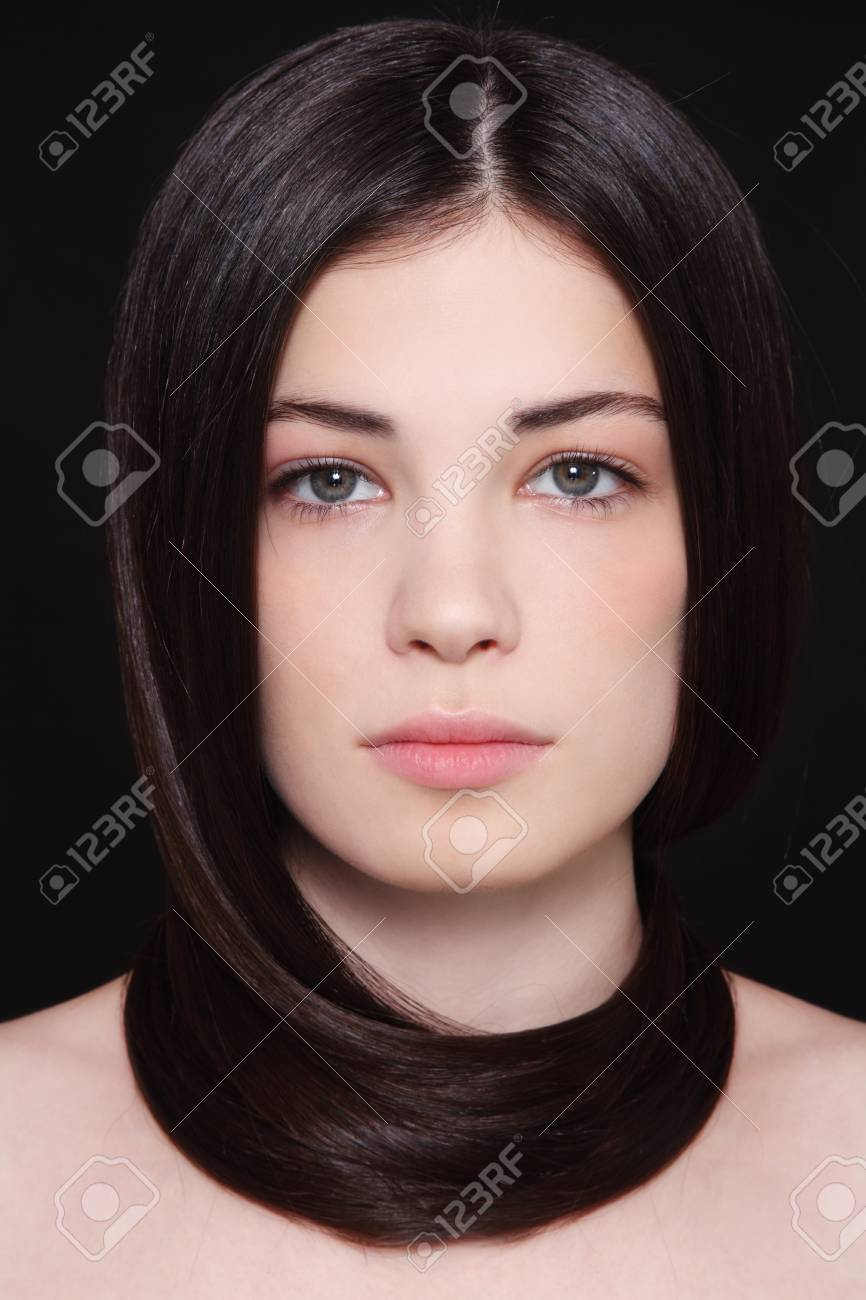 Portrait of young beautiful woman with dark hair Stock Photo - 17478141