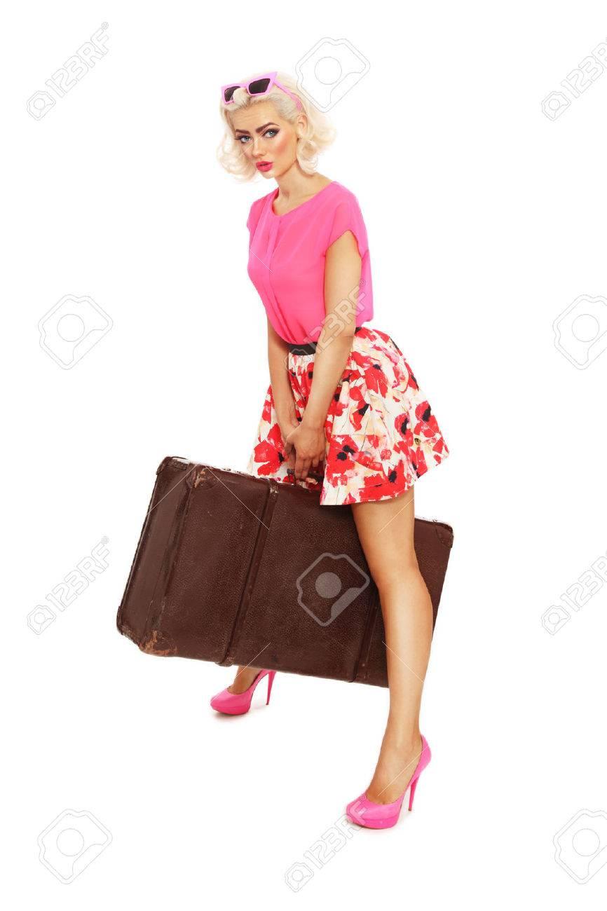 Hot blonde mini skirt