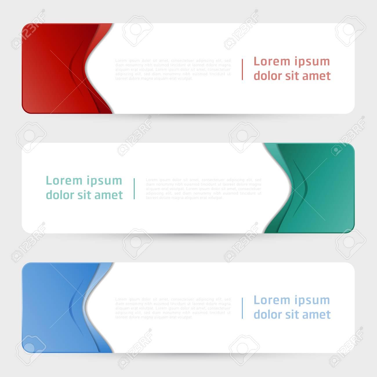 Vector Web banner design template. Abstract geometric web design banner template. - 118848495