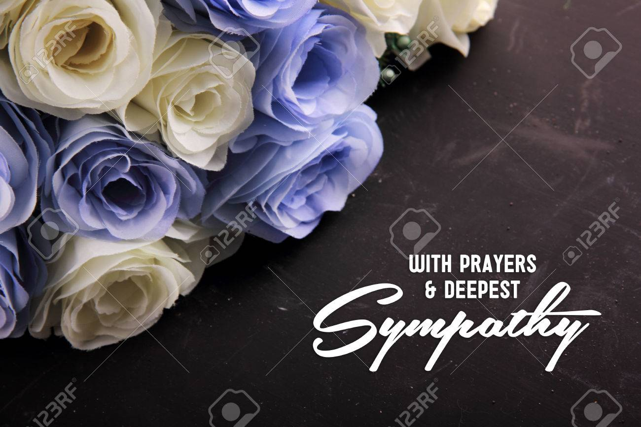 With Prayers & Deepest Sympathy. A sympathetic letter design for someone in despair - 50156234