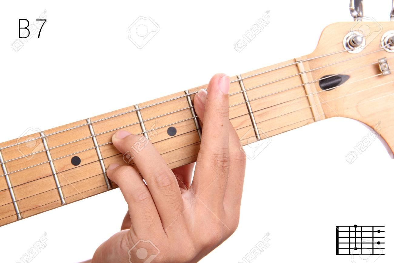 B7 Dominant 7th Keys Guitar Tutorial Series Closeup Of Hand