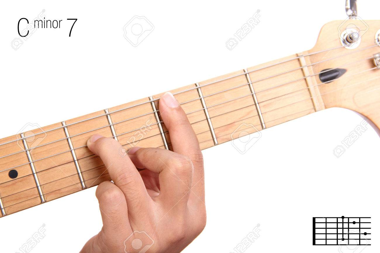 C Minor Seventh Keys Guitar Tutorial Series Closeup Of Hand