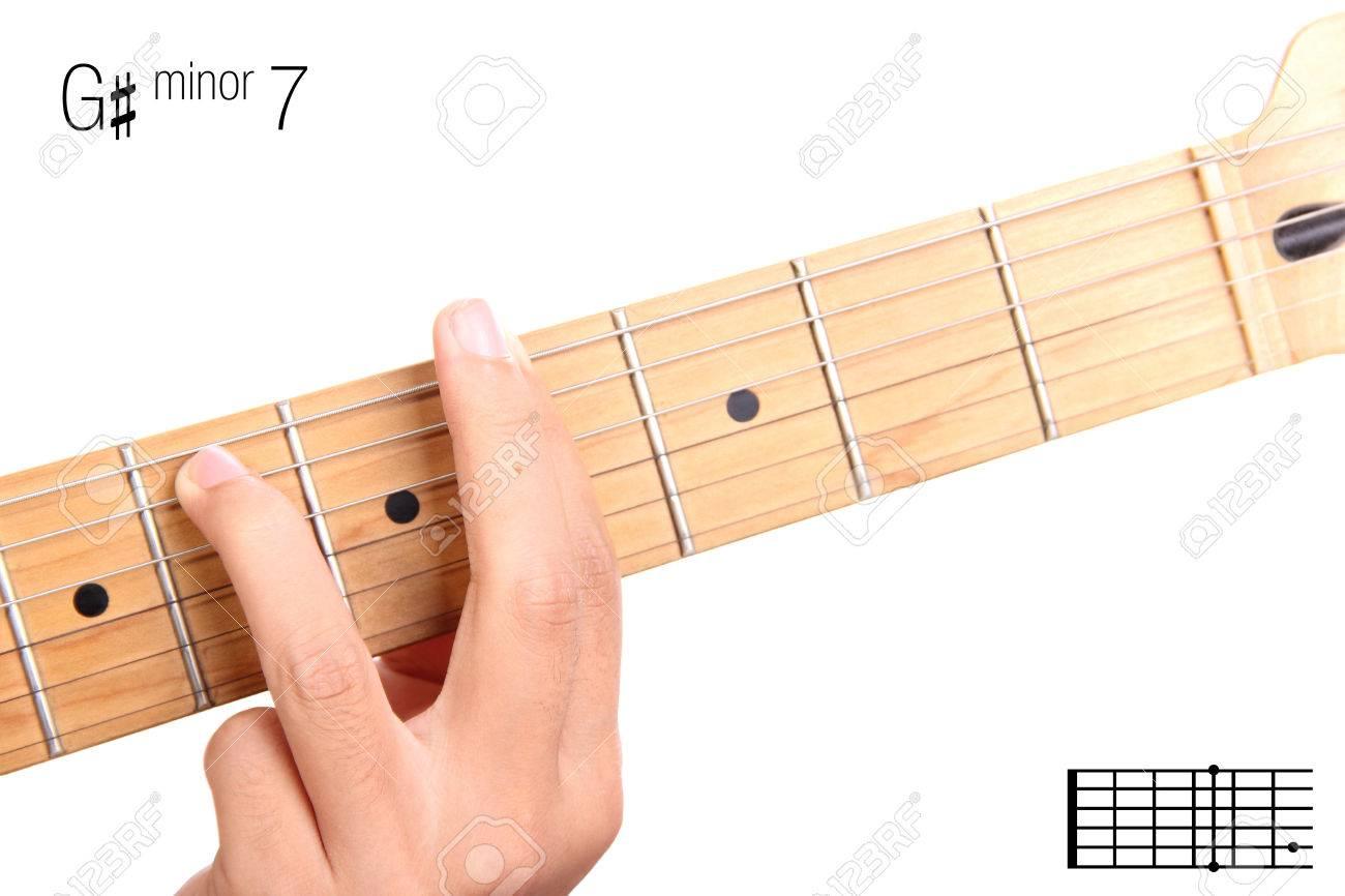 Gm7 Minor Seventh Keys Guitar Tutorial Series Closeup Of Stock